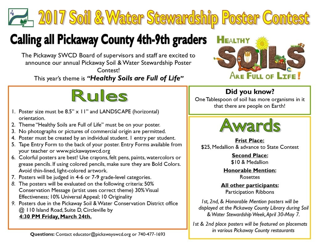Poster contest pickaway soil and water conservation district for Soil full form